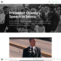 President Obama's Speech in Selma