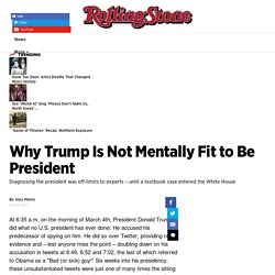 Why Trump Is Mentally Unfit to Be President: Pathology of Narcissism - Rolling Stone