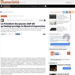 Le Président des jeunes UMP dit qu'Hadopi protège la liberté d'expression - Numerama