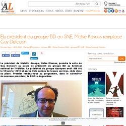 Élu président du groupe BD au SNE, Moïse Kissous remplace Guy Delcourt