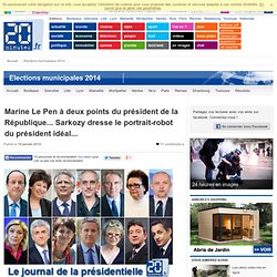 Marine Le Pen à deux points du président de la République... Sarkozy dresse le portrait-robot du président idéal...