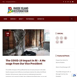 The COVID-19 Impact In RI – A Message From Our Vice President
