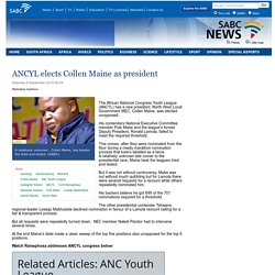 ANCYL elects Collen Maine as president:Saturday 5 September 2015