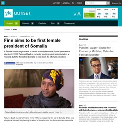 Finn aims to be first female president of Somalia