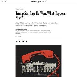 President Trump vs. Democracy
