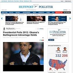 Presidential Polls 2012: Obama's Battleground Advantage Holds