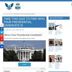 Take this quiz to find who your presidential candidate is