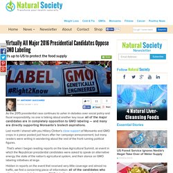 Virtually All Major 2016 Presidential Candidates Oppose GMO Labeling