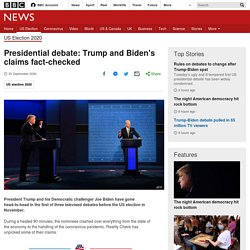 Presidential debate: Trump and Biden's claims fact-checked