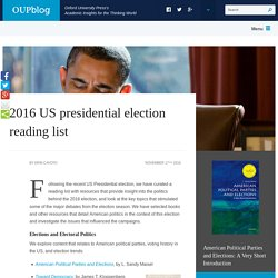 2016 US presidential election reading list