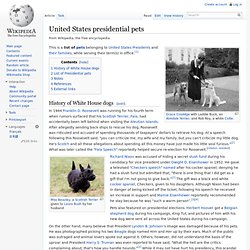 United States presidential pets
