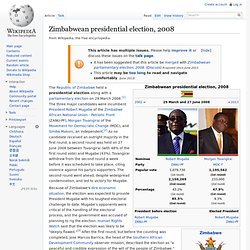 Zimbabwean presidential election, 2008