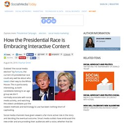How the Presidential Race is Embracing Interactive Content