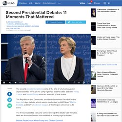 Second Presidential Debate: 11 Moments That Mattered