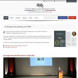 1- Programme de l'UPR pour recouvrer la souveraineté de le France