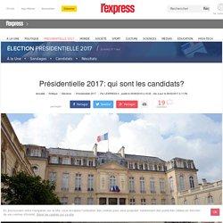 Présidentielle 2017: qui sont les candidats?