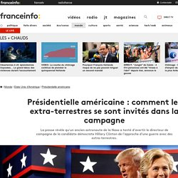 Présidentielle américaine : comment les extra-terrestres se sont invités dans la campagne