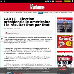 CARTE - Election présidentielle américaine : le résultat Etat par Etat