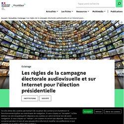 Présidentielle : campagne électorale audiovisuelle et sur Internet