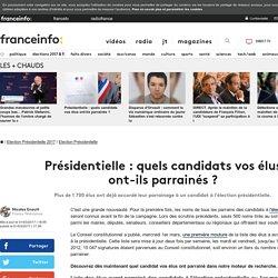 Présidentielle : quels candidats vos élus ont-ils parrainés ?