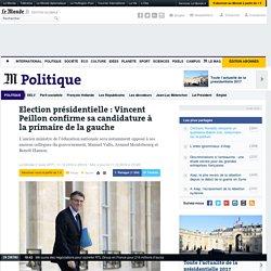 Election présidentielle: Vincent Peillon confirme sa candidature à la primaire de la gauche