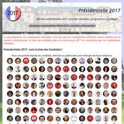 Présidentielle 2017 : voici la liste des Candidats ! Présidentielle 2017, liste des candidats 2017, sondages sur les candidatures à l'élection ...