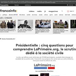 Présidentielle : cinq questions pour comprendre LaPrimaire.org, le scrutin dédié à la société civile