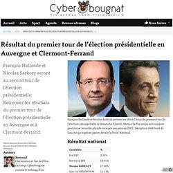 Résultat du premier tour de l'élection présidentielle en Auvergne et Clermont-Ferrand