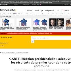 CARTE. Election présidentielle : découvrez les résultats du premier tour dans votre commune