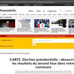 CARTE. Election présidentielle : découvrez les résultats du second tour dans votre commune