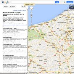 Présidentielle 2012 : la carte des déplacements des candidats dans la région