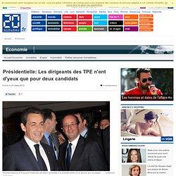 Présidentielle: Les dirigeants des TPE n'ont d'yeux que pour deux candidats