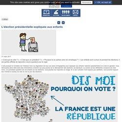 L'élection présidentielle expliquée aux enfants / L'actu du Ministère
