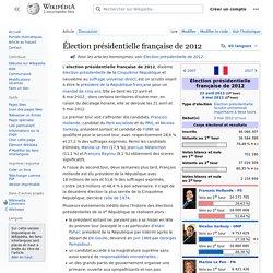 Élection présidentielle française de 2012