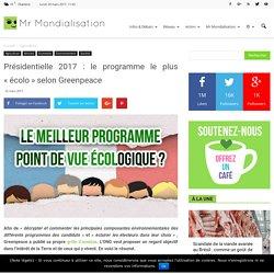 Présidentielle 2017 : le programme le plus «écolo» selon Greenpeace