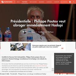 Présidentielle : Philippe Poutou veut abroger immédiatement Hadopi - Politique