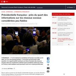 Présidentielle française: près du quart des informations sur les réseaux sociaux considérées peu fiables