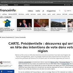 CARTE. Présidentielle: découvrez qui arrive en tête des intentions de vote dans votre région