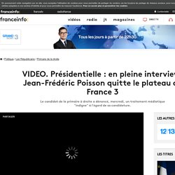 Présidentielle : en pleine interview, Jean-Frédéric Poisson quitte le plateau de France 3