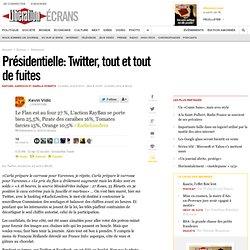 Présidentielle : Twitter, tout et tout de fuites