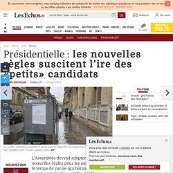 Présidentielle : les nouvelles règles suscitent l'ire des «petits» candidats, Politique
