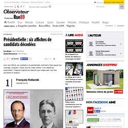 Présidentielle: six affiches de candidats décodées