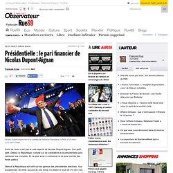 Présidentielle: le pari financier de Nicolas Dupont-Aignan