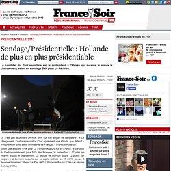 Sondage/Présidentielle : Hollande de plus en plus présidentiable
