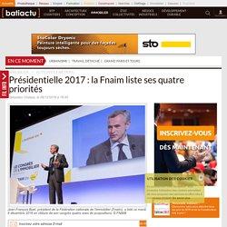 Présidentielle 2017: la Fnaim liste ses 4 priorités - 06/12/16