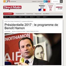 Présidentielle 2017 : le programme de Benoît Hamon