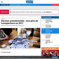 Election présidentielle : vers plus de transparence en 2017