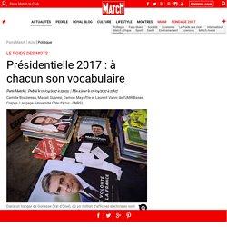 Présidentielle 2017: à chacun son vocabulaire