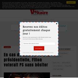 En cas de duel FN-PS à la présidentielle, Fillon voterait PS sans hésiter