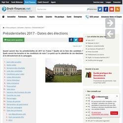 Présidentielles 2017 - Dates des élections